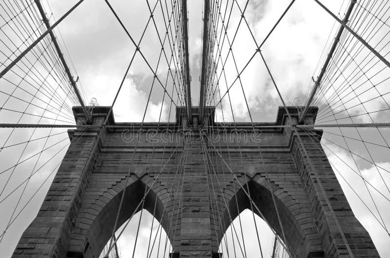 桥梁布鲁克林电缆 免版税图库摄影