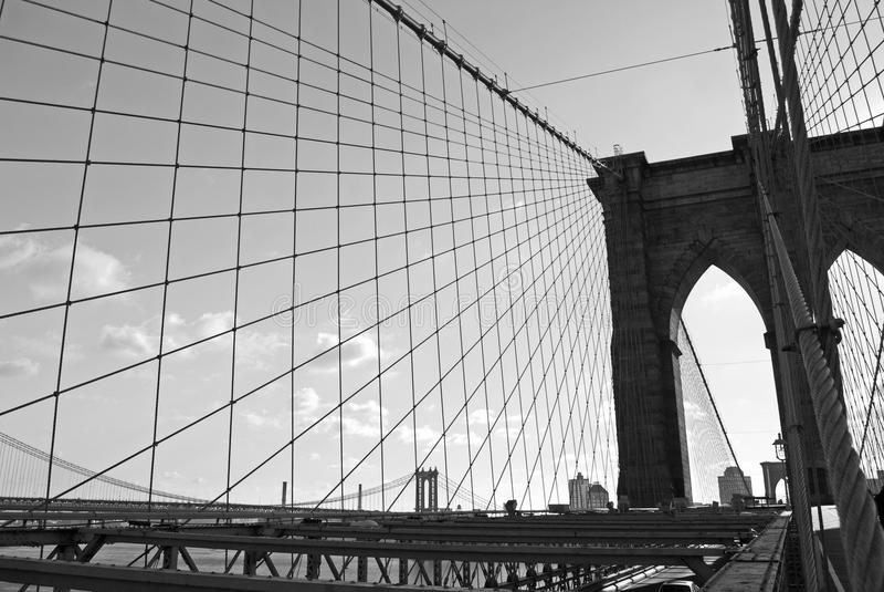 桥梁布鲁克林线路 免版税库存图片