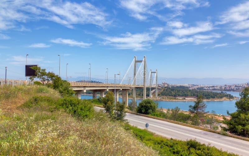 桥梁希腊khalkis 免版税库存图片