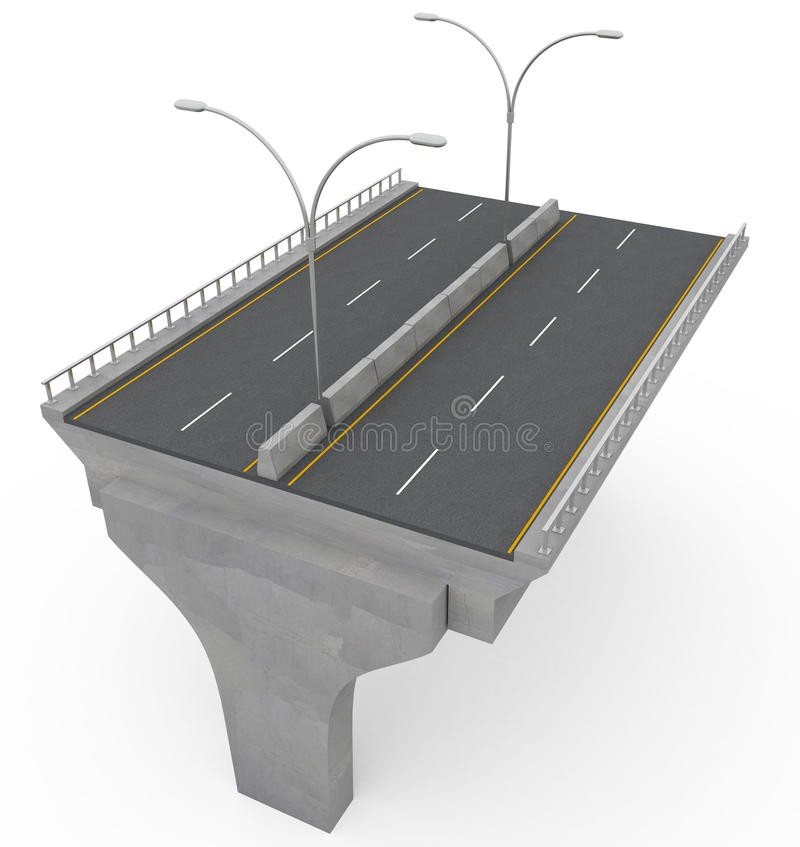 桥梁建筑高速公路新下面 向量例证