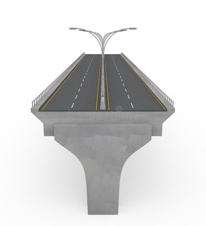 桥梁建筑高速公路新下面 库存例证