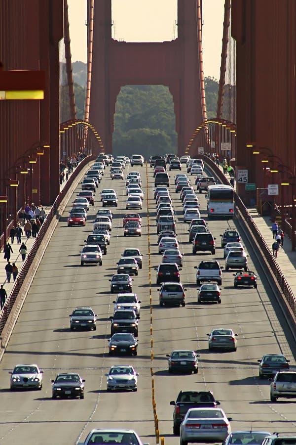 桥梁弗朗西斯科门金黄圣业务量 免版税图库摄影