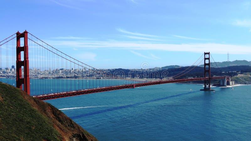 桥梁弗朗西斯科门金黄圣 免版税库存图片