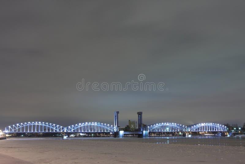 桥梁彼得斯堡st 图库摄影