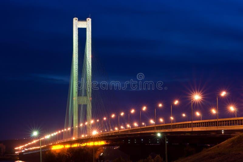 桥梁德聂伯级基辅河南乌克兰 图库摄影