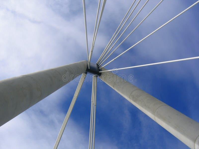 桥梁技术支持 免版税库存照片