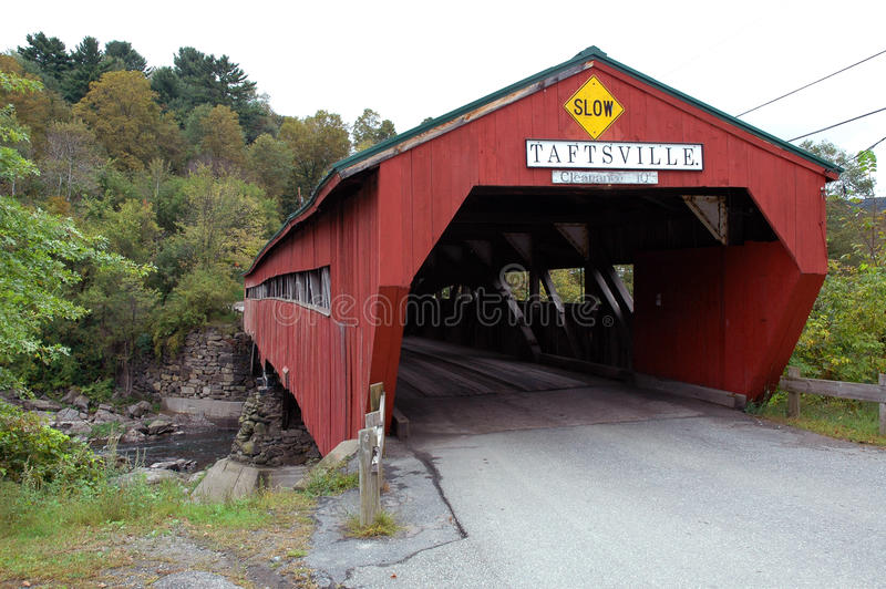 桥梁报道了taftsville佛蒙特 库存图片