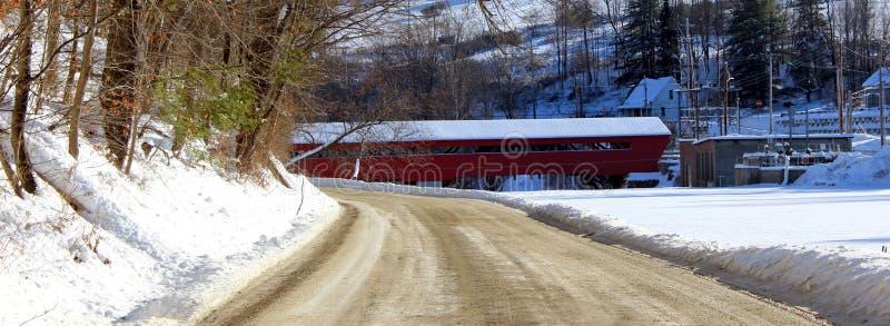 桥梁报道了taftsville 库存照片