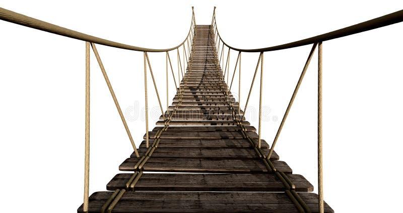 桥梁接近的绳索 向量例证
