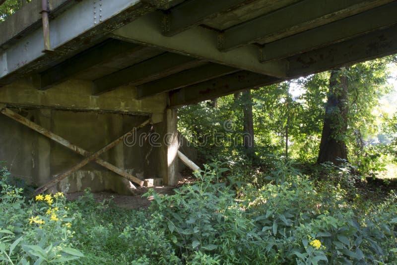 桥梁支持和射线 库存图片
