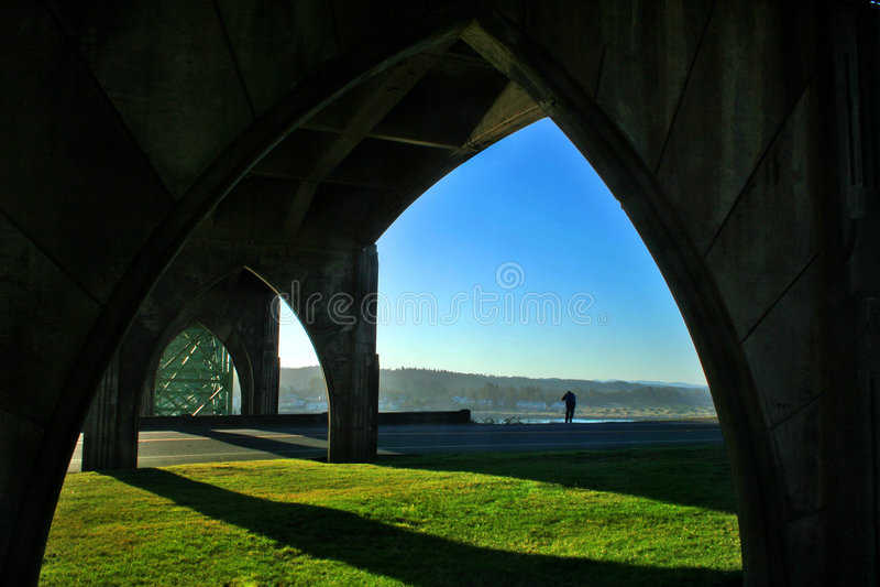 桥梁支持结构 库存图片