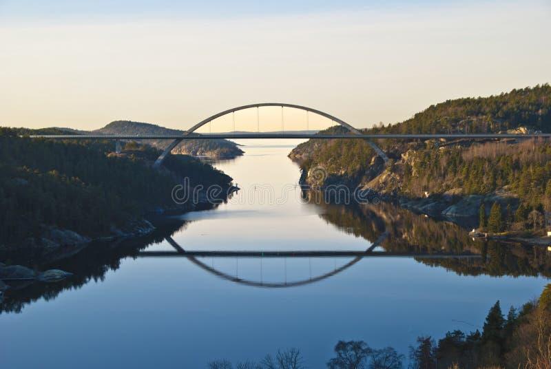 桥梁新的svinesund 免版税库存照片