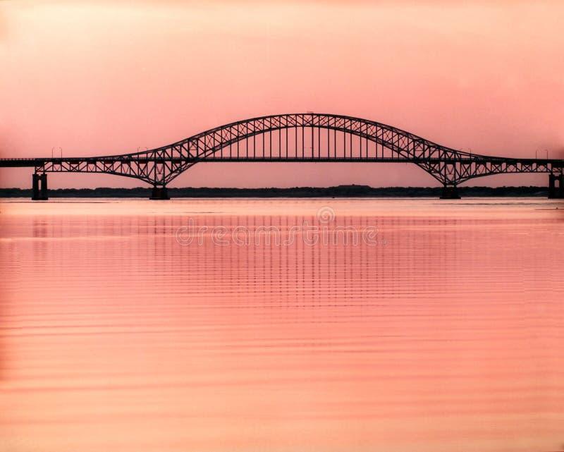 桥梁日出 免版税库存照片
