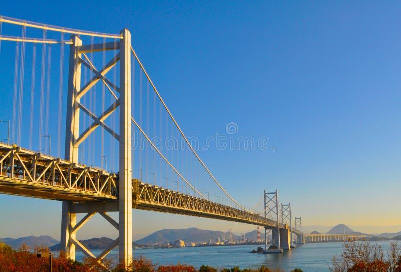 桥梁日本ohashi seto 图库摄影