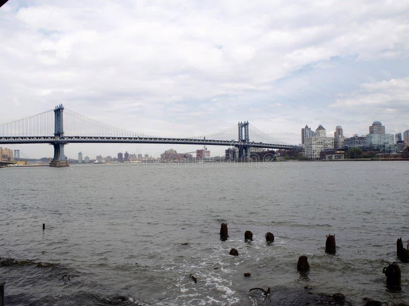 桥梁曼哈顿 免版税库存图片