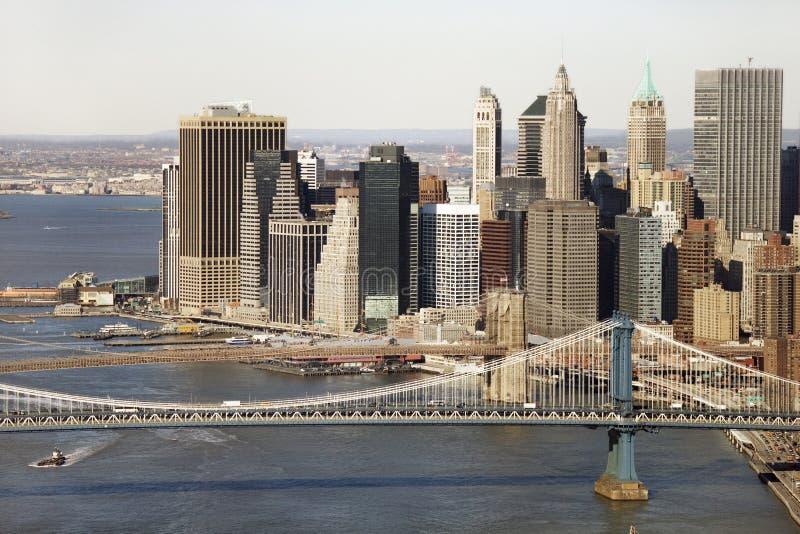 桥梁曼哈顿nyc 免版税图库摄影