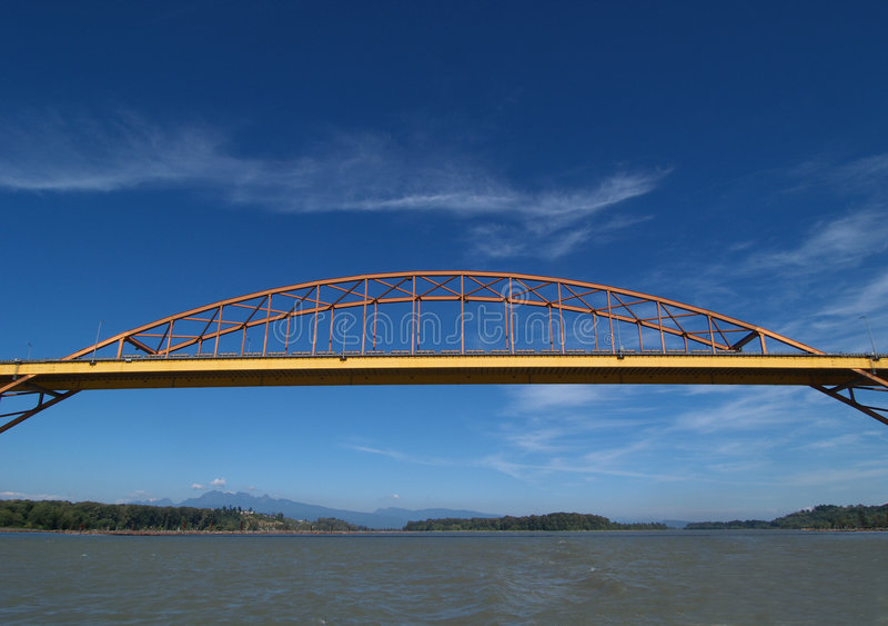 桥梁曼端口 库存照片
