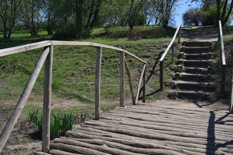 桥梁木材 免版税库存图片