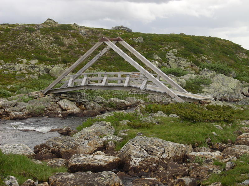 桥梁木的挪威 库存照片