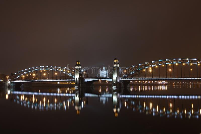 桥梁极大的彼得・彼得斯堡st 库存图片