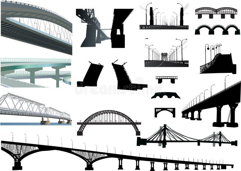 桥梁查出的集 向量例证