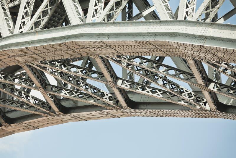 桥梁框架特写镜头 库存图片