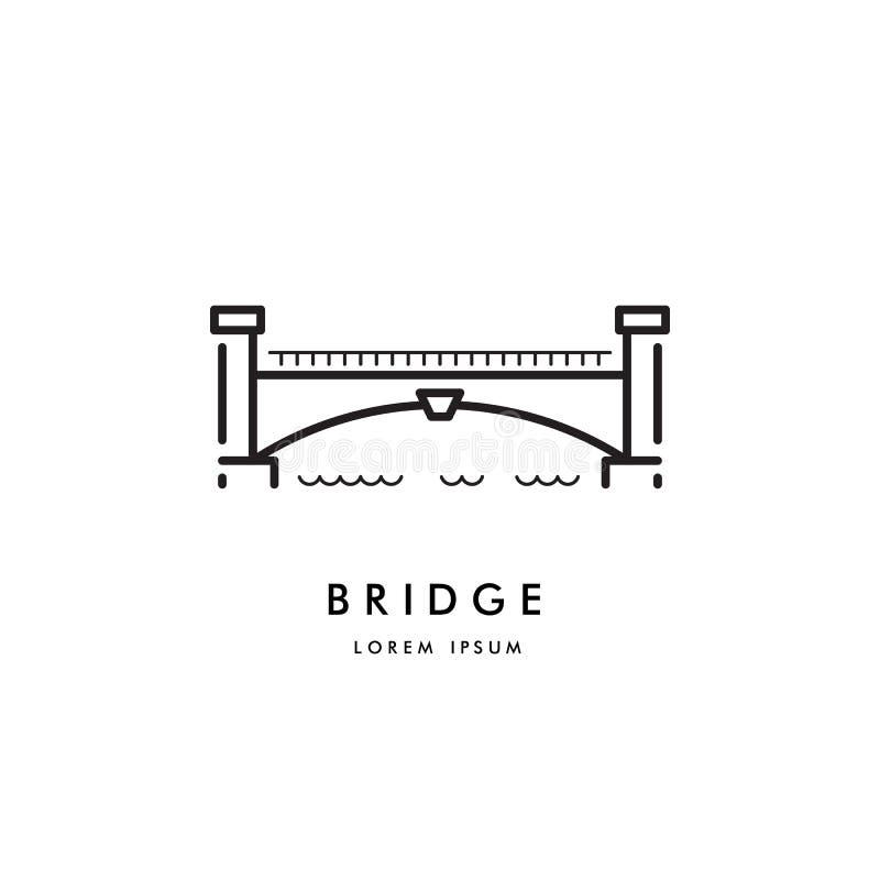 桥梁概述商标传染媒介 皇族释放例证