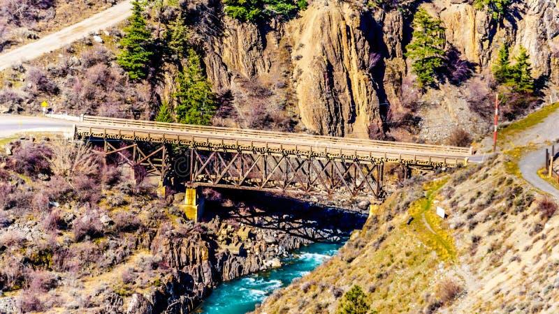 桥梁河,利卢埃特镇的,不列颠哥伦比亚省,加拿大 库存照片