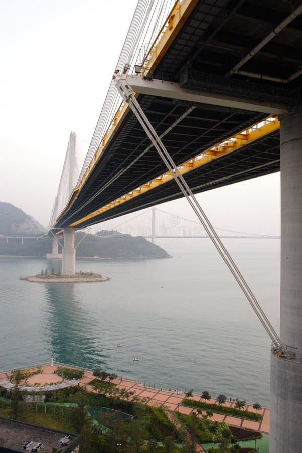 桥梁洪kau kong铃的响声 库存图片