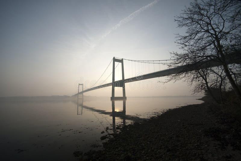桥梁海岸线暂挂 库存图片