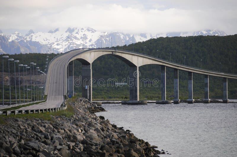 桥梁海湾挪威 免版税库存图片