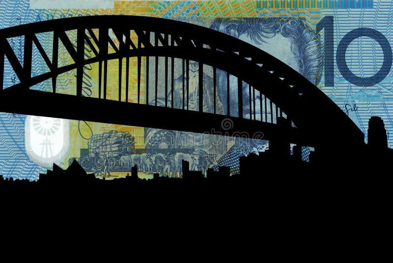 桥梁港口悉尼 皇族释放例证