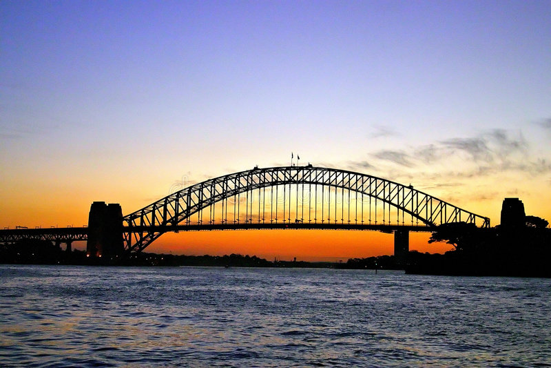 桥梁港口悉尼 图库摄影