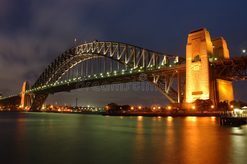 桥梁港口悉尼 免版税库存照片