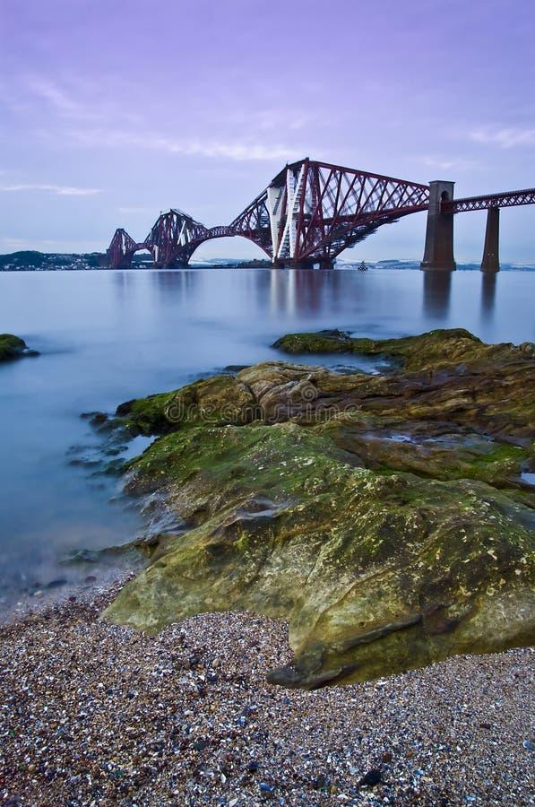 桥梁爱丁堡用栏杆围 免版税库存照片