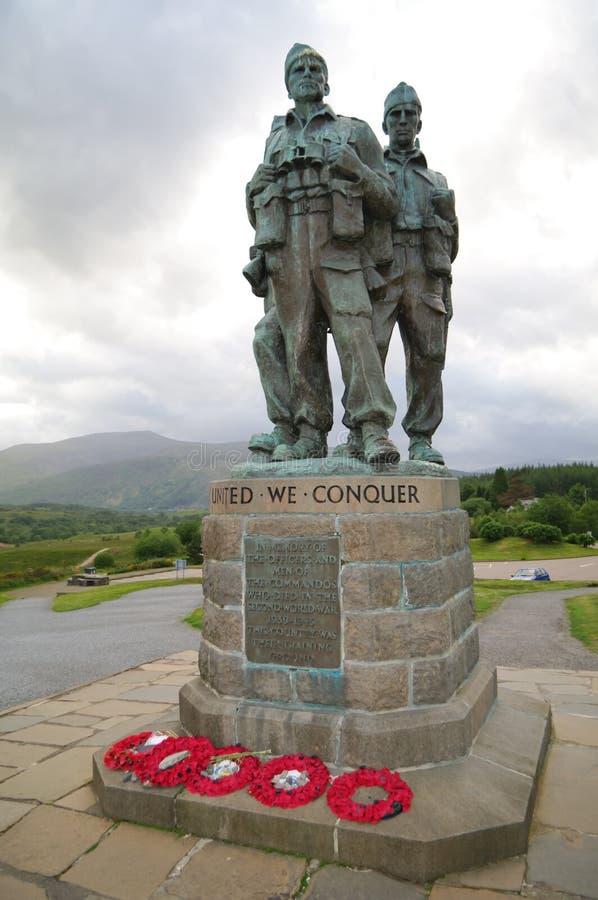 桥梁特攻队spean纪念的苏格兰 免版税库存图片