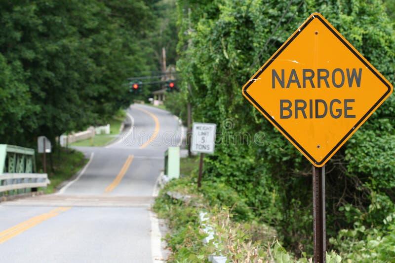 桥梁狭窄 免版税库存照片
