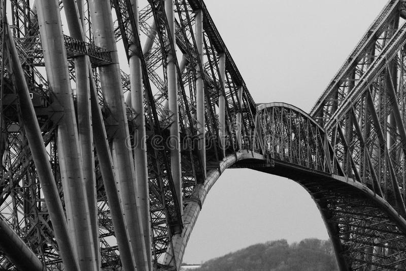 桥梁用栏杆围 库存照片