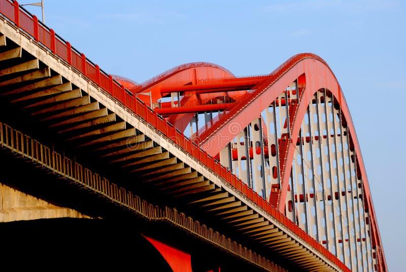 桥梁电缆坚持 免版税图库摄影