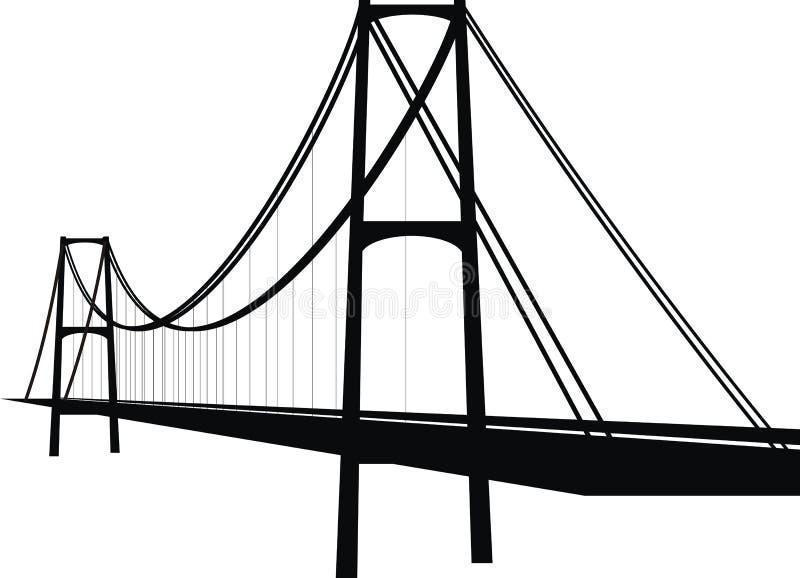 桥梁电缆暂挂 库存例证