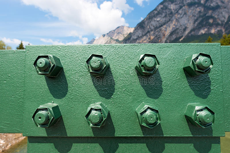 桥梁的螺栓 库存照片