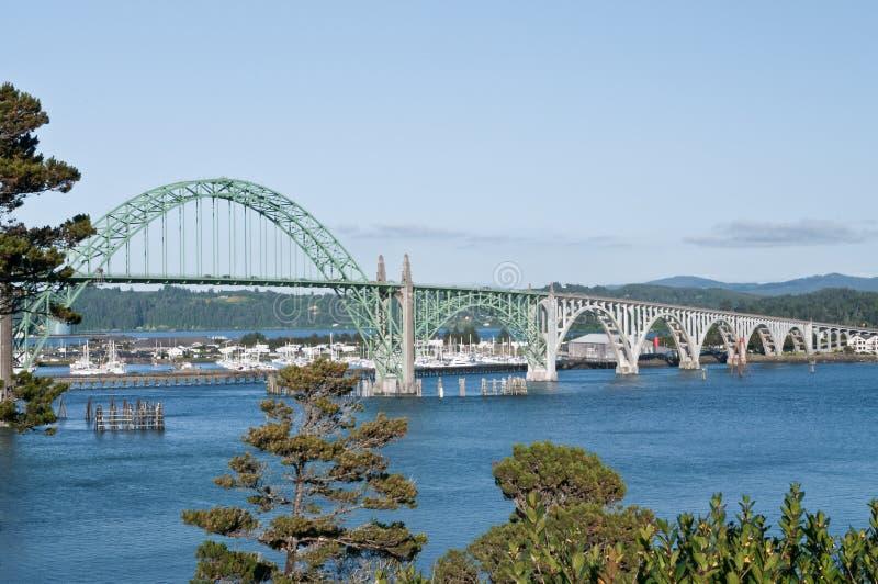 桥梁纽波特俄勒冈 免版税库存图片