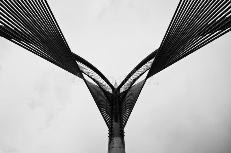 桥梁缚住wawasan的杆 库存图片