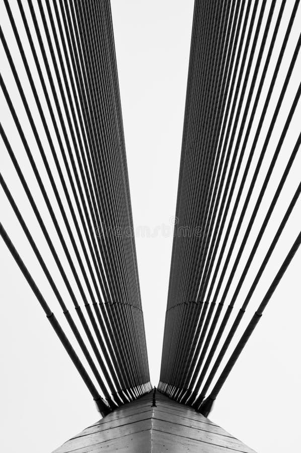 桥梁缚住wawasan的杆 免版税库存照片