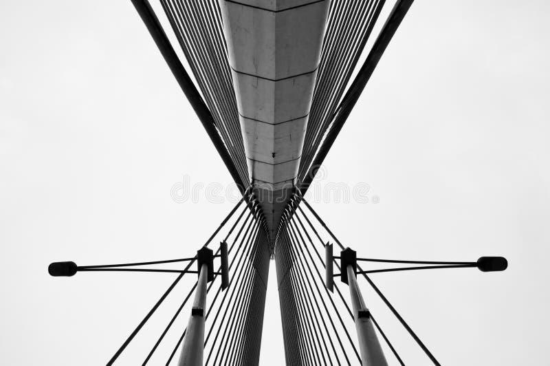 桥梁缚住wawasan的杆 库存照片