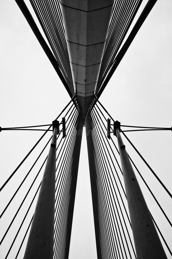桥梁缚住wawasan的杆 免版税库存图片