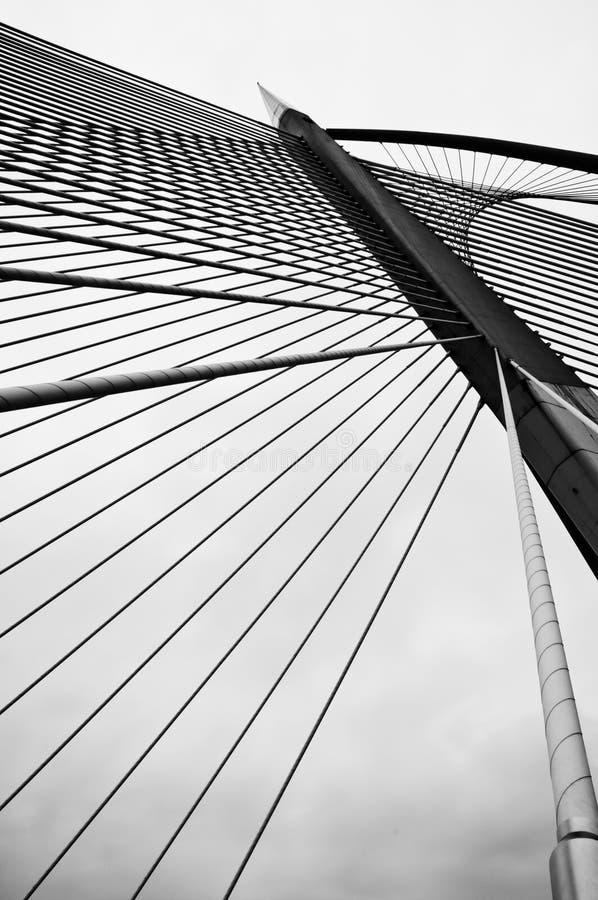 桥梁缚住wawasan的杆 图库摄影