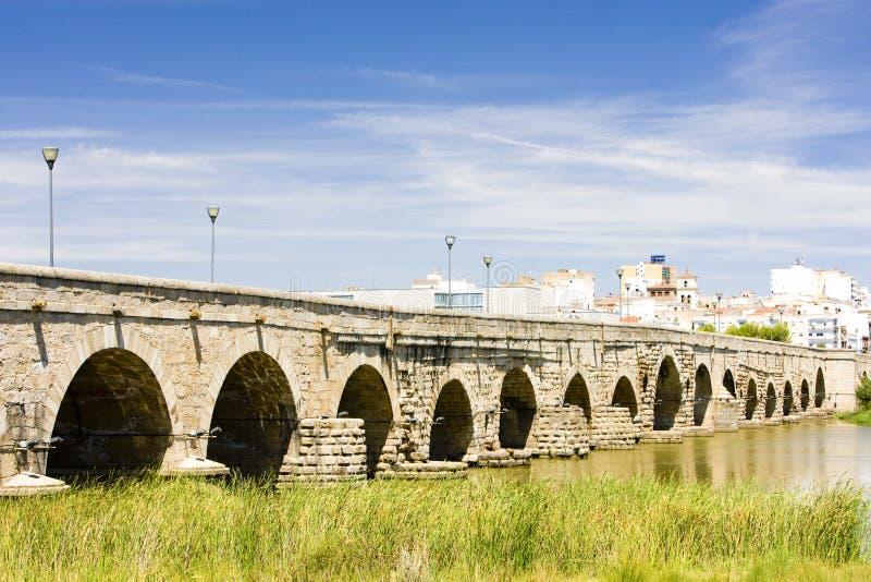 桥梁罗马的梅里达 图库摄影