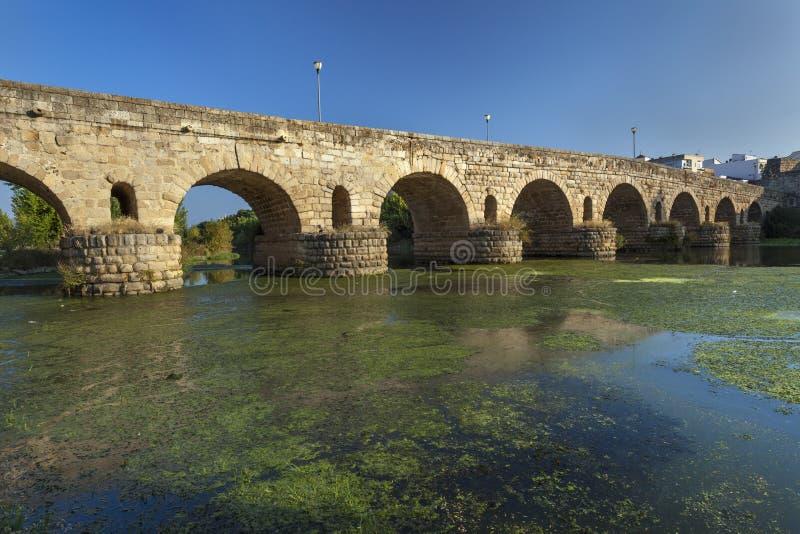 桥梁罗马的梅里达 库存照片