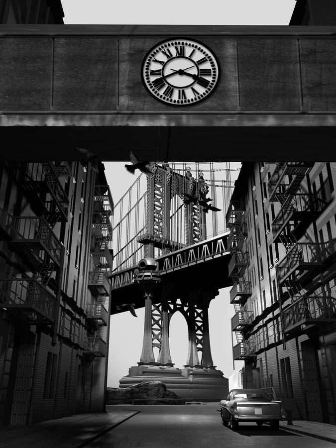 桥梁老曼哈顿 皇族释放例证